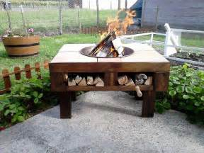 how to make a table pit diy pallet pit table with firewood storage 99 pallets
