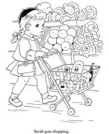 shopping for sheets food coloring pages for kids coloring home