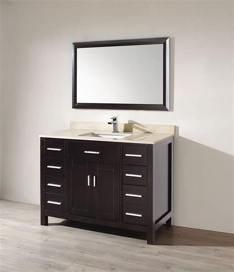 Modern Single Bathroom Vanity Ikou Inc Kaleeze 47 Modern Single Sink Bathroom Vanity Ab Kz47 Bathroom Vanities Brands