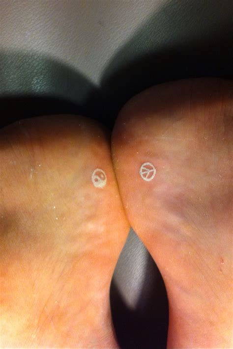 small white foot tattoos tattoos pinterest white