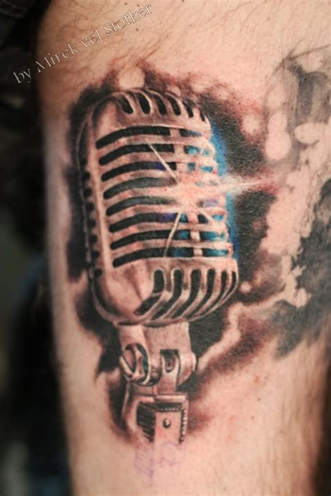 microphone tattoo designs vintage microphone tattoos www imgkid the image