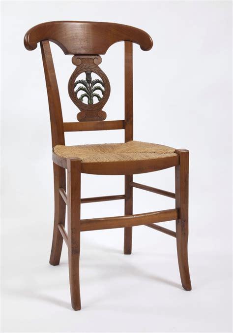 chaise directoire chaise de salle directoire palmette sculpt 233 e quot chardon quot en