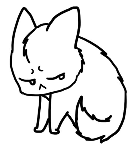 forever alone template pin chibi cat template sketchfu on