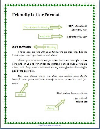 layout of a personal letter how to write a friendly letter format cover letter templates
