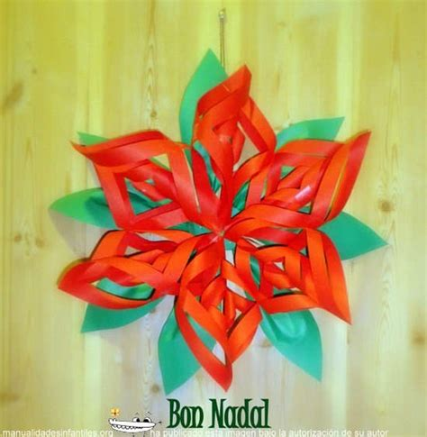como hacer flores de papel para navidad como hacer flores de navidad imagui