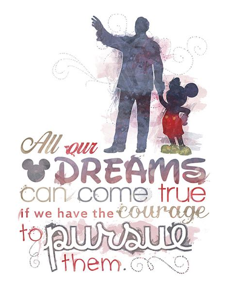 free printable disney quotes walt disney quote 8x10 poster digital download instant