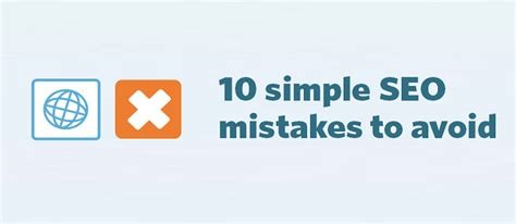 10 simple seo mistakes to avoid constant contact blogs