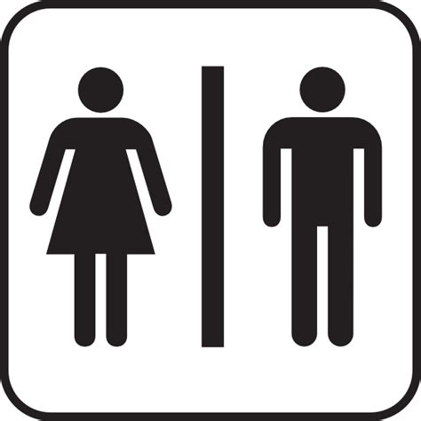 bathroom man and woman large man woman bathroom sign clip art at clker com