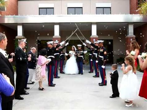 marine corps wedding traditions marine corps wedding sword ceremony