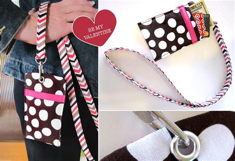 sewing pattern badge holder scrapbusters badge style secret pocket with lanyard
