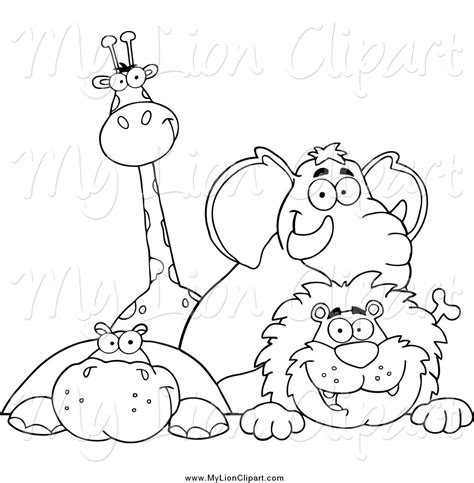 lion giraffe coloring pages print coloring
