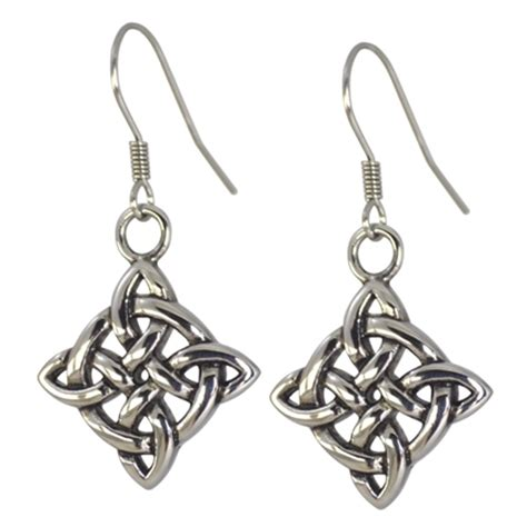 celtic knot earrings hypoallergenic surgical stainless steel