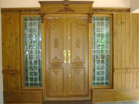 home door design kerala latest kerala model wooden double doors designs gallery
