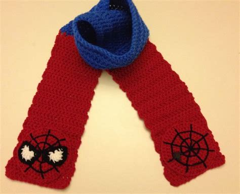 crochet pattern for spiderman scarf spider man scarf by crochetbyapril414 on etsy crochet