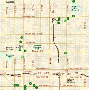 Map of hotels in central phoenix az