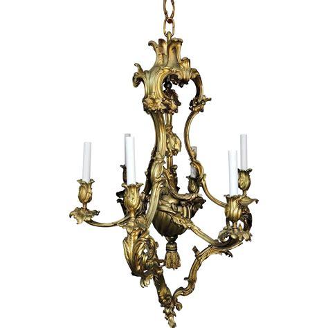 Rococo Chandelier Rococo Dor 233 Bronze Six Light Chandelier Tassel Fixture From Antique Elements On