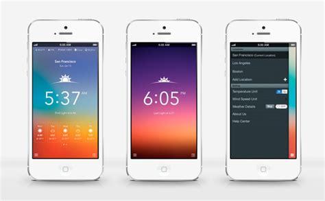 ilmeteo mobile 50 prototipi di app meteo con flat design splesh digitalart