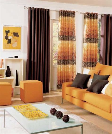 orange and brown living room curtains 10 bright living room in orange amazing kitchen