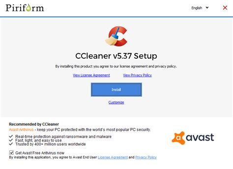 ccleaner installer avast bundles ccleaner with avast free antivirus ghacks