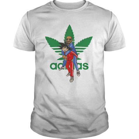Tshirt Adidas Snoop goku and snoop dogg adidas cannabis logo shirt