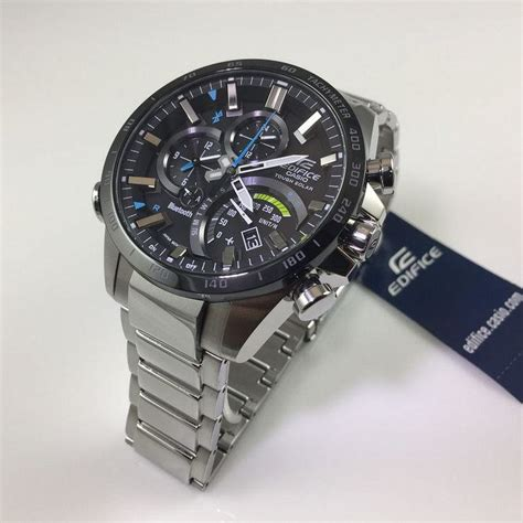 casio bluetooth casio edifice bluetooth solar powered eqb501xdb 1a