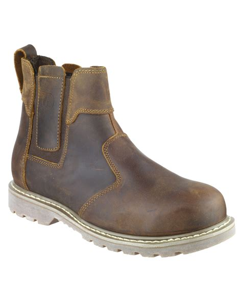 amblers fs165 safety dealer boots brown the safety shack