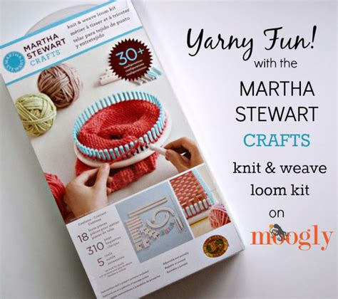 martha stewart crafts knit weave loom kit yarny with the martha stewart knit weave loom kit