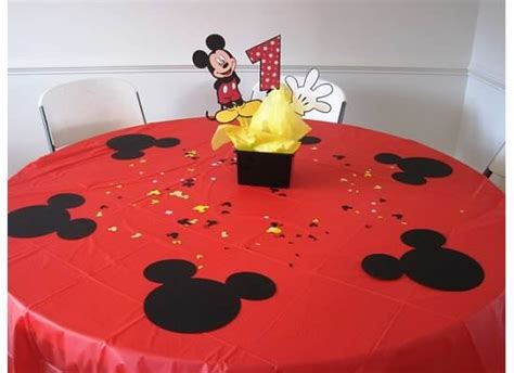 mickey mouse birthday table brycie 2nd birthday