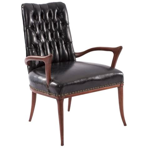 Upholstered Armchairs For Sale Sculptural Mahogany And Upholstered Armchair For Sale At