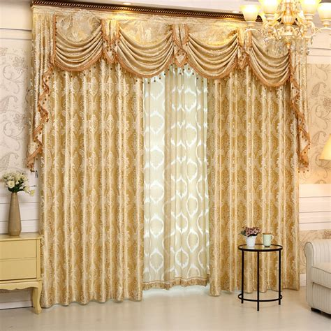 Valance Curtains For Living Room by Aliexpress Buy 2016 Set New Europe Style Curtains Luxury Jacquard Curtains For Living