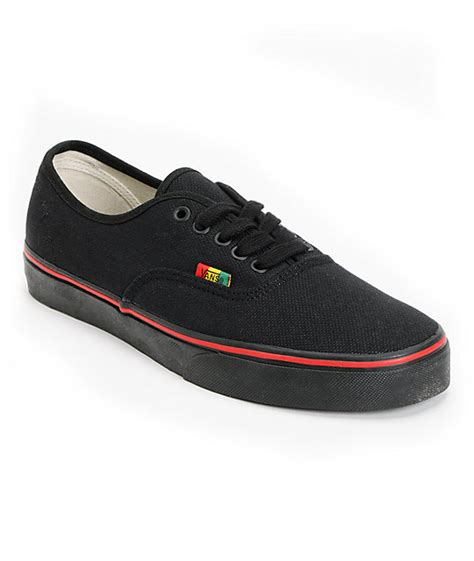Sepatu Vans Authentic Checker Rasta vans authentic black rasta hemp shoes at zumiez pdp