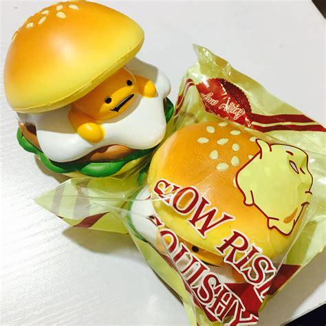 Soft And Slowrise Squishy Vlo Burger rising gudetama burger squishy mascot on storenvy