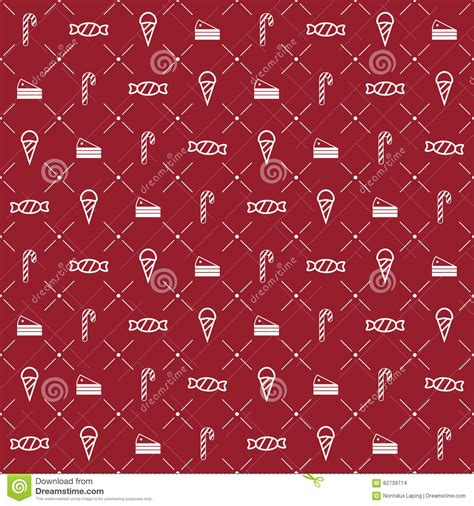 seamless pattern cake christmas seamless pattern stock vector image 62739714