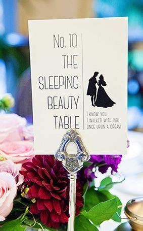 Disney Weddings   Creative Disney Table Names   Disney