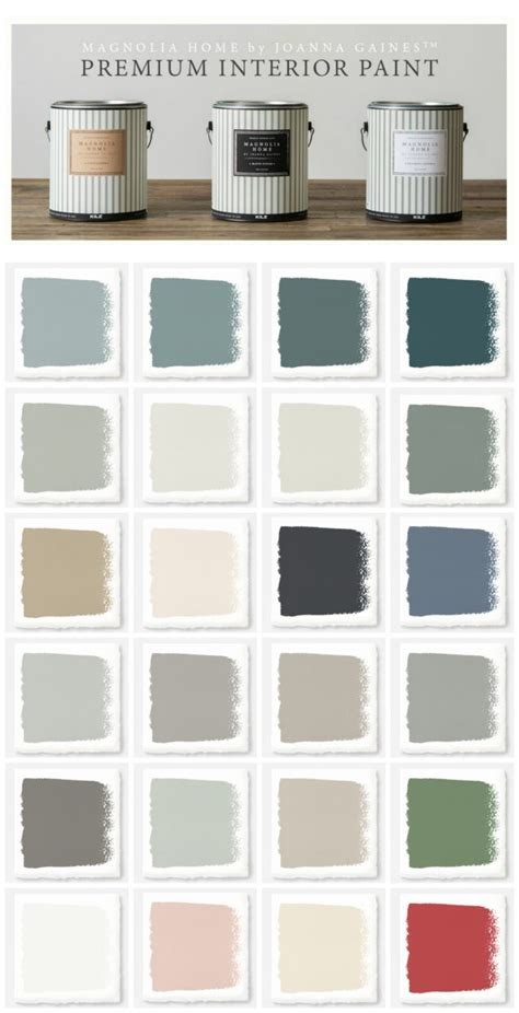 paint colors in joanna gaines home new magnolia home paint collection