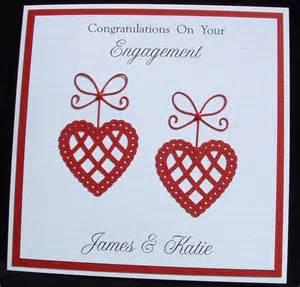 Handmade Personalised Wedding Cards Uk - handmade personalised engagement anniversary wedding card