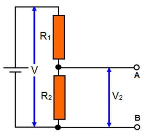 current through resistor voltage divider schoolphysics welcome