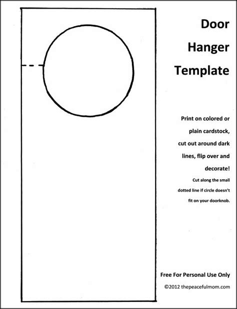 door hanging template 25 best ideas about door hanger template on