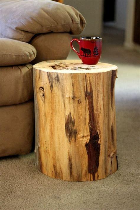 Tree Stump Side Table Wood Stump Table Tree Stump Table Reclaimed Wood Side Table