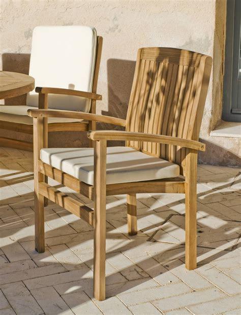 sillon madera teka amberes de hevea terrazajardin