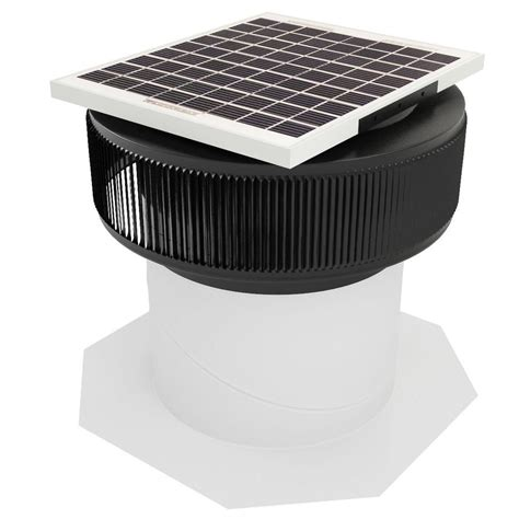 solar powered ventilation fan master flow 1250 cfm power roof mount vent in black pr2dbl