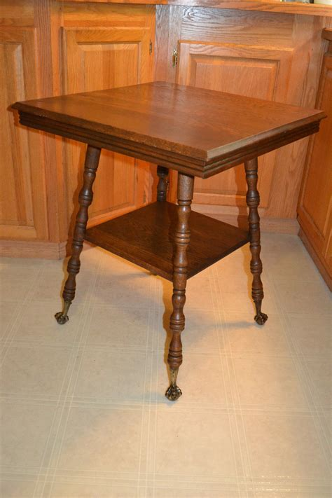 antique table with claw antique oak brass claw end side table