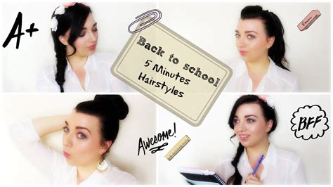 easy hairstyles for school in 5 minutes dailymotion 5 minute easy hairstyles back to school collaboration