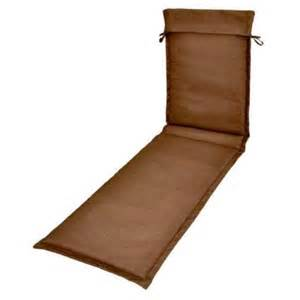 Plantation Patterns Cushions Plantation Patterns Solid Brown Outdoor Sling Chaise