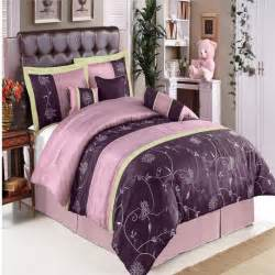 Purple bed sheet sets bed and bath