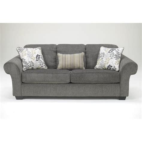 chenille sofa ashley makonnen chenille sofa in charcoal 7800038