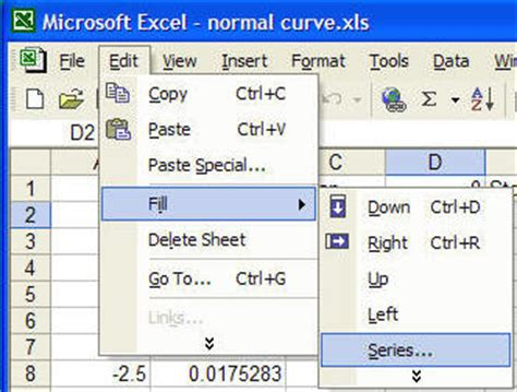 excel tutorial normal distribution draw a normal distribution curve