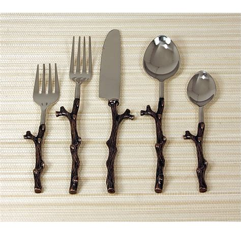 Design For Copper Flatware Ideas Twig Flatware Antique Copper Twig Flatware Blumuh Design