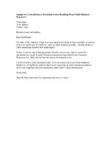 Rescission Letter Template Fillable Online Sample Of A Cancellation Or Rescission