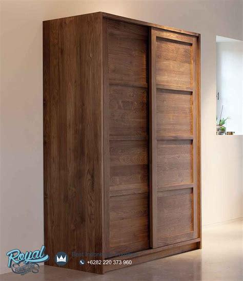 Almari Lemari Baju 2 Pintu almari pakaian kayu jati 2 pintu geser sliding terbaru royal furniture indonesia